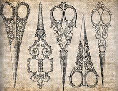 have i already pinned this? these are definitely up there on my list   5.7.2013  Antique Sewing Scissors Ornate Sew Seamstress  by AntiqueGraphique, $1.00