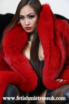 Ultra Soft Red Fox Fur Coat...