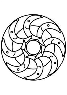 Desenhos para colorir para crianças. Desenhos para imprimir e colorir Mandalas 35