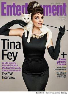 Tina Fey - Celebrities Who Love Cats