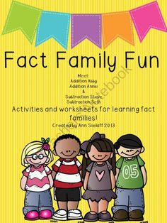Fact Family Fun: A freebie! from The Caffeinated Classroom on TeachersNotebook.com (10 pages)  - A small group or center activity including 2 worksheets or assessment tools.