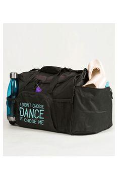 Girls Show Me The Barre Ballet Dancer Glitter Holdall Dance Bag Duffell Womens