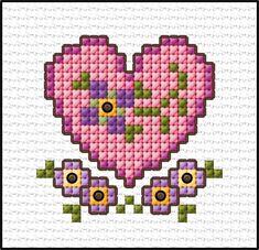 123 Cross Stitch, Cross Stitch Bookmarks, Cross Stitch Needles, Cross Stitch Heart, Cross Stitch Cards, Simple Cross Stitch, Cross Stitch Designs, Cross Stitching, Cross Stitch Patterns