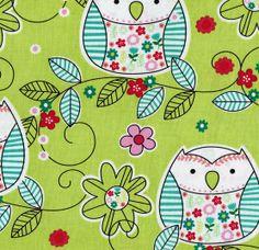 Novelty Quilt Fabric- Green Pattern Owls at Joann.com