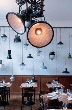 Ambiance bistro industriel pour ce restaurant - Londres fait son show en 15 photos - CôtéMaison.fr
