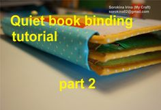 Quiet book binding tutorial. Part 2