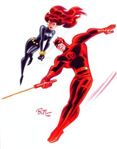 Daredevil and Black Widow by Bruce Timm