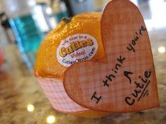 HEALTHY VALENTINE IDEA- I think you are a CUTIE... so simple to make LOVE this idea