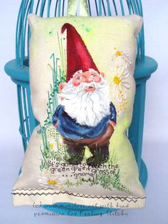 """stitchalong with MimiLove-- """"it's good to touch the green green grass of gnome"""""""