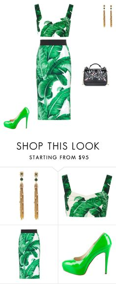 """""""Untitled #5550"""" by explorer-14576312872 ❤ liked on Polyvore featuring Alexis Bittar, Dolce&Gabbana and Brian Atwood"""