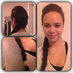Side braid with a poof on top of the crown area. Everyday look, can be used as a party look :)