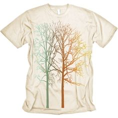 Colorful Trees Graphic MENS natural Tee. $16.99, via Etsy.