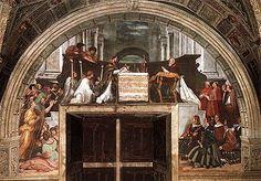 La Messa di Bolsena (Stanza di Eliodoro) è un affresco. Raffigura il miracolo eucaristico di Bolsena.Questo miracolo avvenne nel 1263, quando un sacerdote boemo, dubitante della transustanziazione, vide sgorgare gocce di sangue da un'ostia. La scena è impostata in masse equilibrate, ma con una simmetria piuttosto libera.