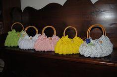 funny summer chrochet bags