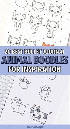 Looking to add some decoration to all your bullet journal spreads?! Check out these super cute step by step animal doodles to get started!