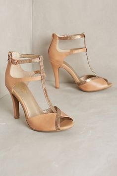 Idea for bridesmaids. I know I have some girls who can rock a heel. And this is one heck of a heel. Could see this looking super sexy with one of the more flow-y dresses.