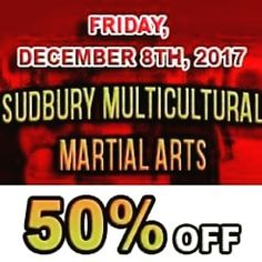 Sudbury MMAs best promotion of the year is back!! 50% OFF Membership. Spaces are LIMITED!!! The first 10 people tp register will get a free tshirt and a FREE 30 min private. PM or Call us to reserve your spot!! 705.586.5400  #sudburymma #deal #kids #adult #classes #50% #muaythai #kickboxing #brazilianjiujitsu #bjj #warriors #grappling #healthy #active #lifestyle #fun #oneteam #onefamily #getit #for #everyone