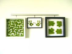 Tableau Végétal Original  \ Moss Wall Art, Moss Art, Moss Graffiti, Graffiti Wall, Graffiti En Mousse, Vertikal Garden, Moss Decor, Moss Terrarium, Moss Garden