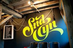 SND CYN Studios: Former Lima Bean Factory Turned into a Collaborative Workspace in Irvine Typography Inspiration, Creative Inspiration, Design Inspiration, Environmental Graphics, Environmental Design, Typography Poster, Typography Design, Identity, Graphic Projects