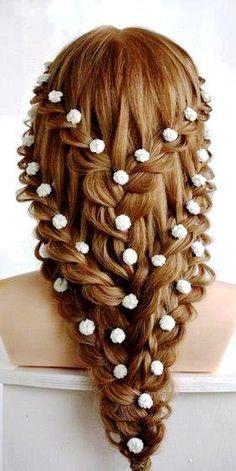 Fabulous Wedding Braid Style With Three Hair Pins All Things Wedding Hairstyles For Women Draintrainus