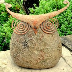ACHICA | Avocado Stone Wise Owl Large