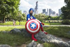 "That's exactly what brought me to this park on a beautiful summer day. To make fresh neural connections in our collective consciousness. To leave a new image on the hard drive of that boy's mind.  ""Captain America in a Turban,"" Vishavjit Singh"