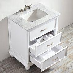 "Elizabeth 30"" Single Bathroom Vanity Set | Bathroom, Ikea ..."