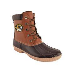 Men's Missouri Tigers Duck Boots, Size: 13, Brown