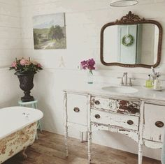 S Cottage And Design Chippy Antique Wood High Boy Buffet Table Made Into The Best Bathroom Vanity