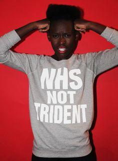 NHS NOT TRIDENT WOMEN'S SWEATSHIRT   Katharine Hamnett for CND