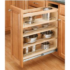 Buy the Rev-A-Shelf Natural Wood Direct. Shop for the Rev-A-Shelf Natural Wood 448 Series Wide Base Cabinet Pull Out Shelves and save. Kitchen Base Cabinets, Kitchen Cabinet Pulls, Kitchen Cabinet Organization, Kitchen Storage, Cabinet Organizers, Kitchen Shelves, Kitchen Organizers, Wood Shelves, Organization Ideas
