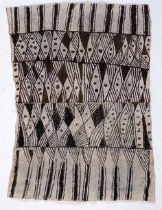 Democratic Republic of the Congo; Mbuti peoples Cloth, Bark, pigment W. Tribal Patterns, Textile Patterns, Textile Design, Floral Patterns, African Textiles, African Fabric, African Design, African Art, Peruvian Textiles