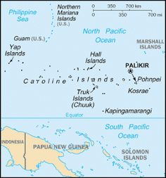 Country Maps: Federated States of Micronesia Map South Pacific, Pacific Ocean, Geography For Kids, Geography Map, Federated States Of Micronesia, Country Maps, Marshall Islands, Guam, Small Island