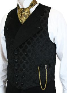 Marsdown Vest - Black -- great idea for the guys #steampunk #wedding