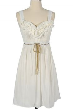 Sunday Afternoon Dress in White