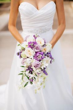 Bridal Bouquet, purple wedding ideas