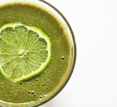 Swiss Chard Green Smoothie with Lime and Banana