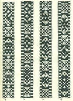 Rigid heddle woven band for Christmas. Wool and linen. From Scandinavian origin. Made by Marijke van Epen. Inkle Weaving, Inkle Loom, Card Weaving, Tablet Weaving Patterns, Bead Loom Patterns, Crochet Bedspread Pattern, Tapestry Crochet, Beaded Cross Stitch, Cross Stitch Flowers