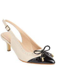 "This classic, trendy oxford-style pump features a pointed toe and bow accent. We carry this pump in wide and wide wide widths.   comfort padding: padded insoles with arch support offer extra cushioning at the heel and toe bed comfort grip: flexible, skid-resistant soles are designed for better traction comfort width: our extended sizes provide a perfect width in medium, wide and wide wide comfort heel: the stabilized heel design and sound construction offer better support 2 1/4"" stable ..."