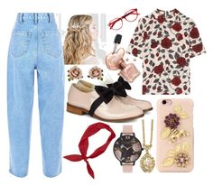 """""""Feeling Floral"""" by elisenotelsie ❤ liked on Polyvore featuring Ganni, Pokemaoke, Dolce&Gabbana, 1928, Les Néréides and Olivia Burton"""