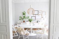 Der Tisch meiner Träume von Saarinen Knoll (oval Tulip Table)