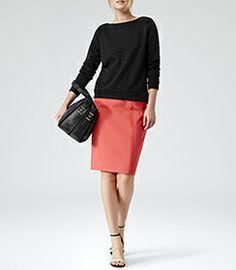 Womens Black Double Zip Shoulder Bag - Reiss Harland