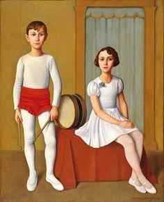 artiebagagli: Antonio Donghi - Piccoli saltimbanchi (1938) Antonio Donghi (Italian, 1897 - 1963)
