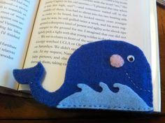 Felt Whale Corner Bookmark