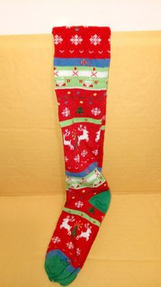 THICK WARM COTTON RICH LONG OVER KNEE SOCKS RED OR BLACK SIZE  4-7 BNWT