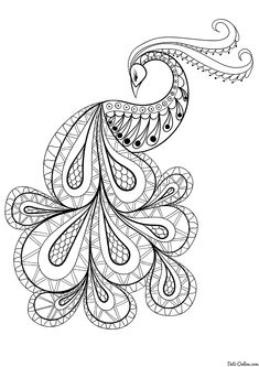 Раскраска Павлин Peacock Drawing, Peacock Painting, Peacock Art, Dot Painting, Silk Painting, Geometric Coloring Pages, Fruit Coloring Pages, Henna Drawings, Art Drawings