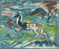 Arnold Peter Weisz-Kubínčan was an expressionist, tormented by internal unrest and search for identity for his whole life, which ended tragically in a Nazi. National Gallery, Thing 1, Antique Paint, Wild Horses, Petra, Art Google, Vintage Images, Pet Portraits, Fine Art Paper