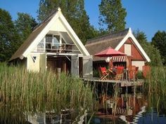 Comfortable boathouse on Granzow Möschen - Home Page Germany Travel, Holiday Destinations, Tiny House, Travel Inspiration, Places To Go, Shed, Around The Worlds, Outdoor Structures, Cabin