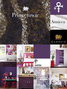 #CambriaQuartz Cambria Princetown Cambria Annicca Pantone Love Symbol #2 Pantone Prince Purple Cambria Colors, Cambria Quartz, Love Symbols, Pantone, Kitchen Ideas, Prince, Gallery Wall, Bathroom, Purple