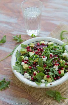 Black Quinoa, Arugula and Pomegranate Salad